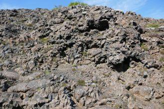 Island - bizarre Muster in einer Felsspalte