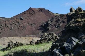 Island - Westm+ñnner Inseln Heimaey - Felslandschaft