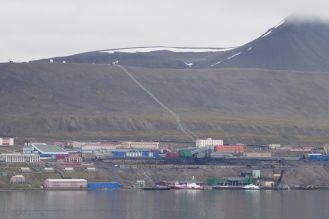 Barentsburg - Ansicht vom Fjord