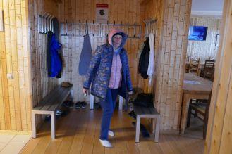 Barentsburg - Eingangsbereich Restaurant, Lydia