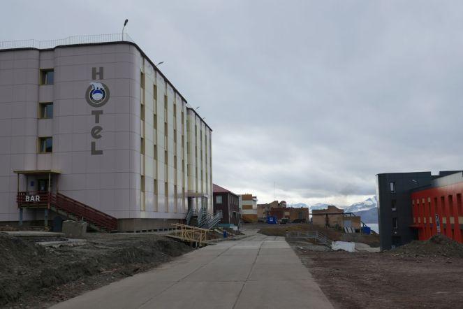 Barentsburg - Hotel mit Restaurant