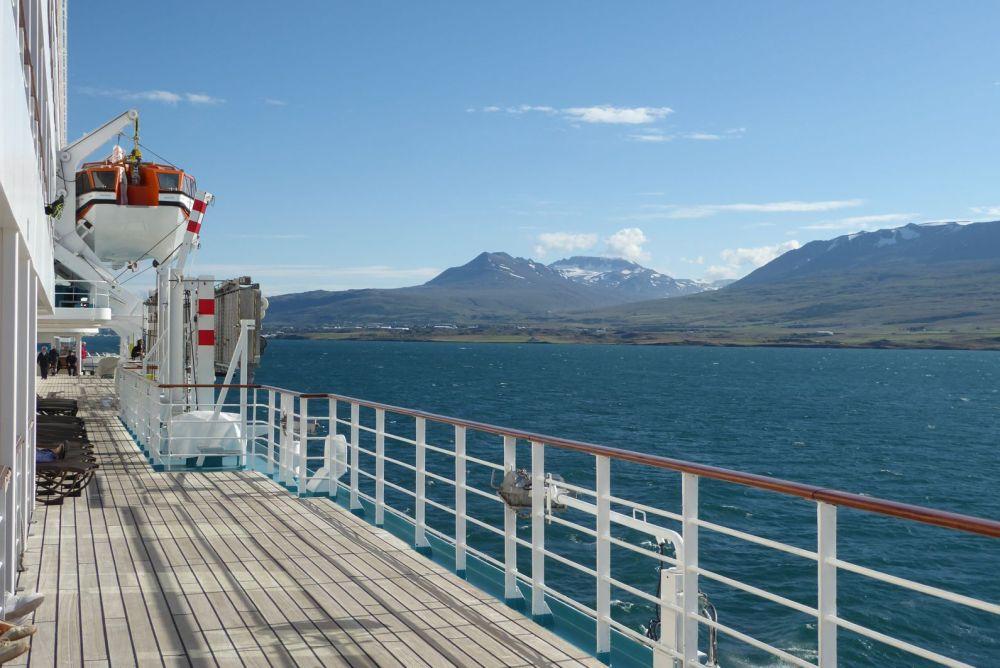 Island - Akureyri - Fjordeinfahrt