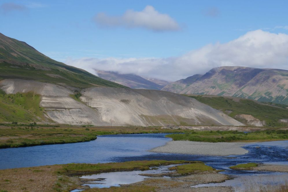 Island - Akureyri - Flusstal Richtung Grenivik-2