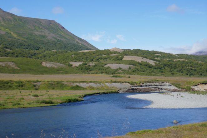 Island - Akureyri - Flusstal Richtung Grenivik