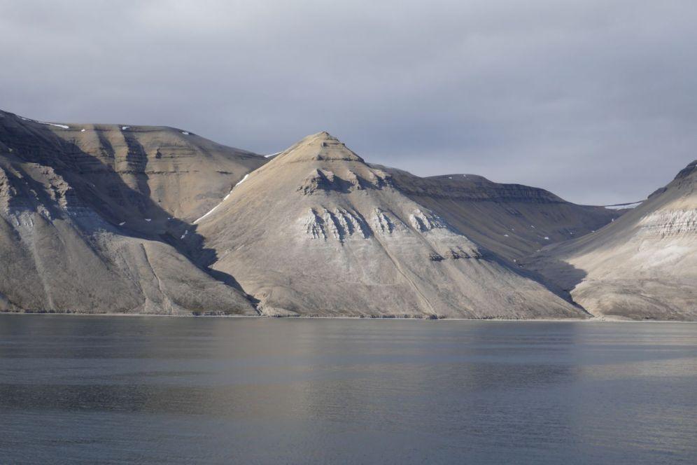 Spitzbergen - Bergformation Pyramiden