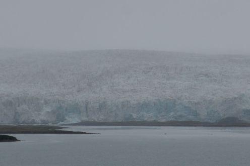 Spitzbergen - Gletscher im Morgennebel
