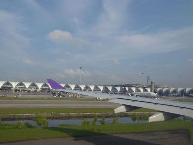 Flughafen Bangkok - Landung