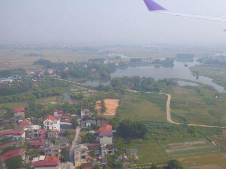 Anflug auf den Flughafen von Hanoi