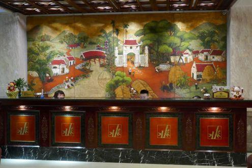 Hanoi - Rezeption Flower Garden Hotel