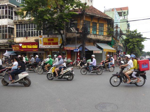 Hanoi - Altstadt, Mopeds