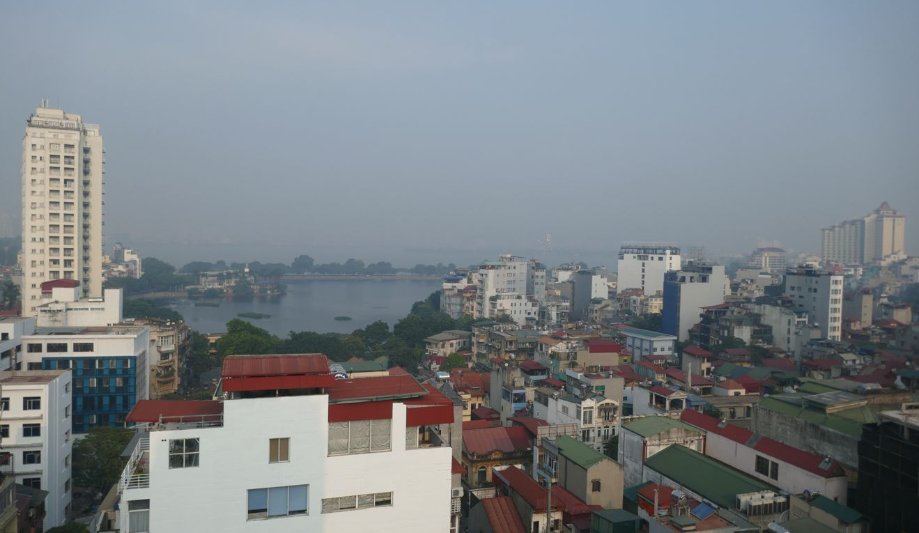 Hanoi - II - Stadt vom Hotel aus