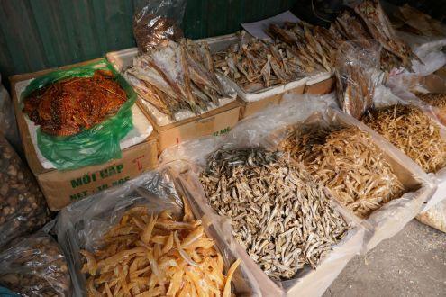 Hanoi - alter Markt, getrocknete Meerestiere
