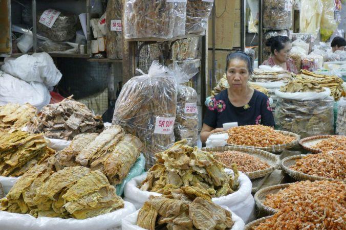 Hanoi - alter Markt, Trockenfische