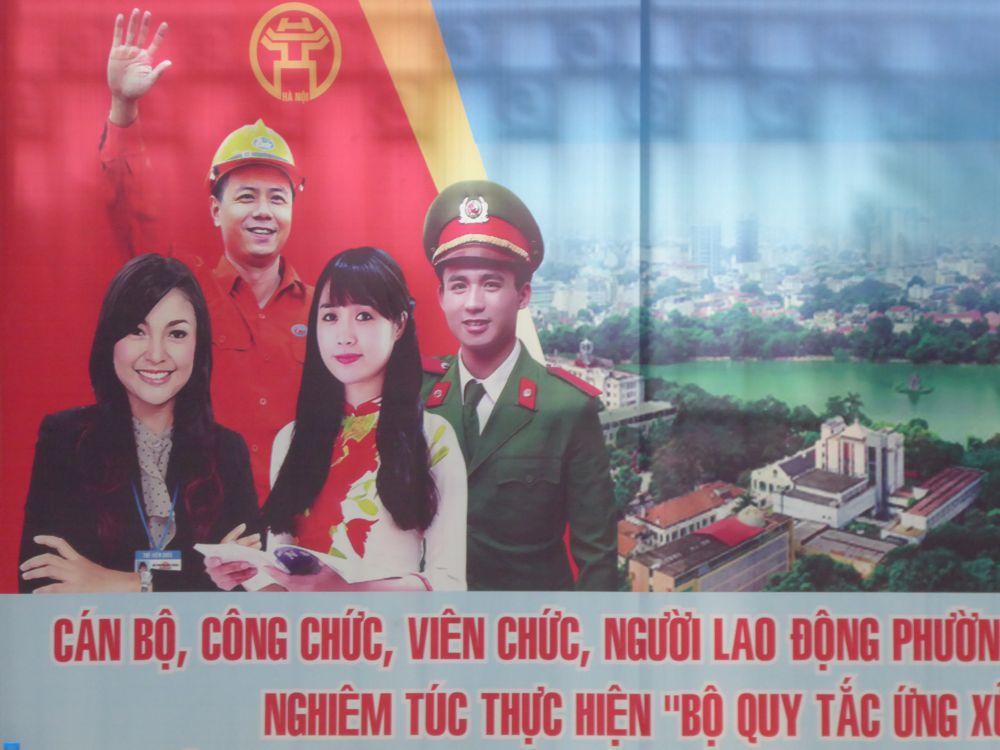 Hanoi - Politplakat