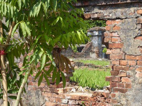 Hue - Kaiserpalast, von Bomben zerstört