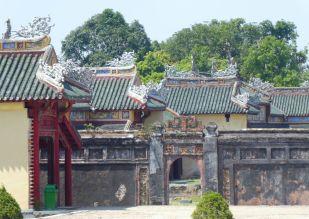Hue - Kaiserpalast mit Beschädigungen aus dem Vietnam-Krieg
