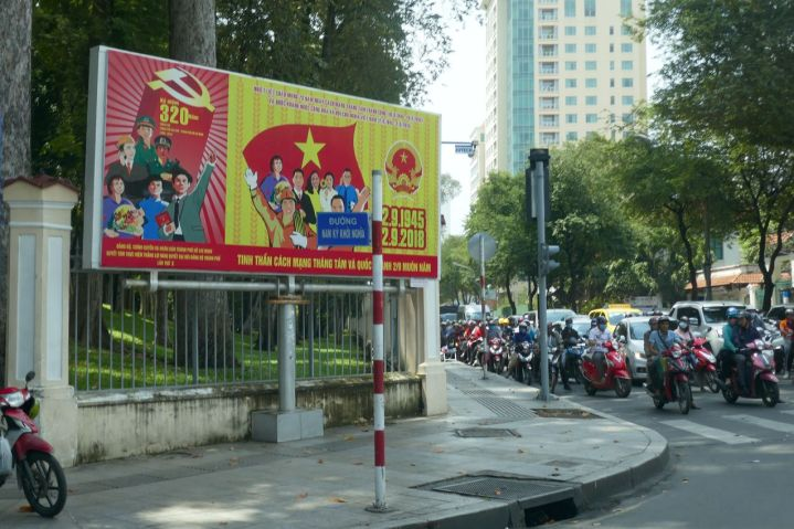 Ho Chi Minh City - Parteiplakat